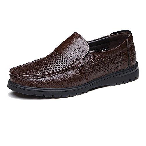 para Perforación tamaño Vaca Superior Hombre EU holgazán BN de Piel 42 Genuino Cuero único Caballeros on de Meimei shoes Perforación Color Plano de de Zapatos Slip Opcional HqxwvTS