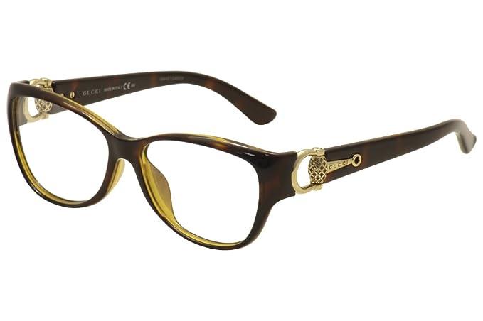 cb5ce82774c Gucci Eyeglasses 3728F 3728-F Q18 Chocolate Havana Optical Frame ...