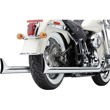 Cobra 630078 True Dual Fishtail Exhaust System (H-D Softail ()