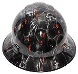 HardHatGear Custom Hydro Dipped VENTED Full Brim Hard Hat in 'Red Eyes' - Made in USA