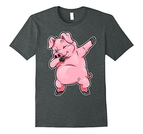 Daddy Pig Costume (Mens Pig Dabbing T Shirt Funny Piggy Farm Farmer Pig Dab Dance 3XL Dark Heather)