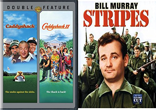 Stripes + Caddyshack & Caddyshack 2 Double Feature DVD 3 80's Comedy Set Bill Murray Feature