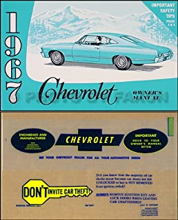 1967 chevy owner manual package rep impala ss caprice bel air rh amazon com 1967 chevy impala repair manual 1967 chevy impala manual transmission