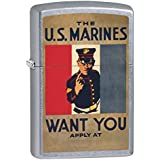 Zippo Lighter: Military Poster, US Marines Want You - Street Chrome 79365