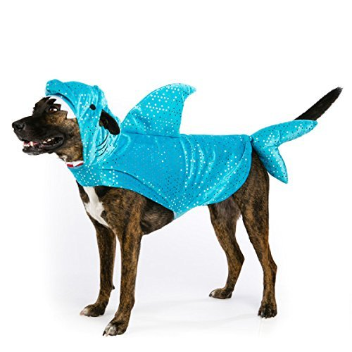 Top Paw Sparkly Shark Dog Dress Up Costume Small