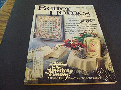 Better Homes and Gardens Jun 1978 Alphabet Sampler, Best Cookout Recipes