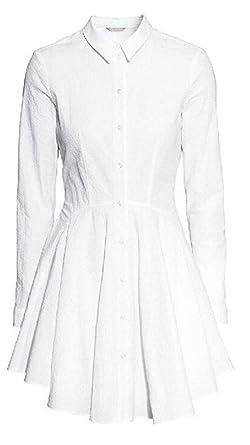 Toufa Camisa de Manga Larga para Mujer OL Elegent Polo Blanco ...