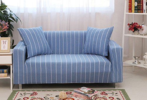 ChezMax Striped Pattern Soft Cotton Fabric Sofa Cover 1 Piece