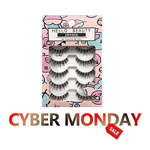bca1080ebe2 JIMIRE Fake Eyelashes Natural Wipsy Lashes False Eyelashes Multipack