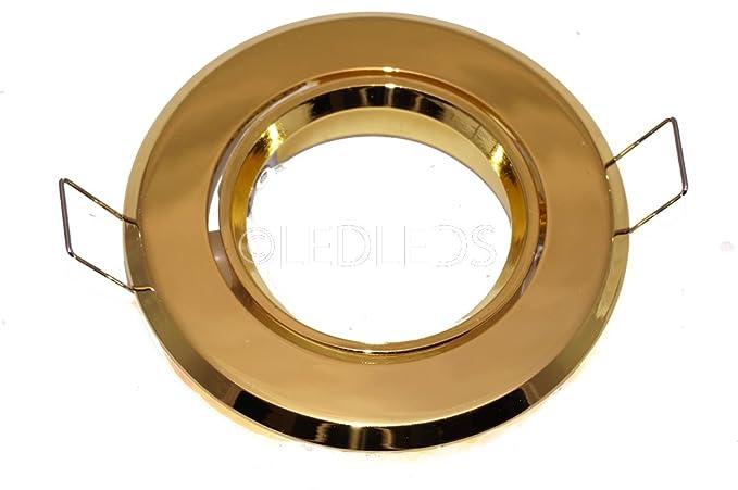 Incasso portafaretto porta faretto led orientabile oro gu tondo