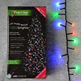 1,000 LED (25m) Premier TreeBrights Cluster Christmas Tree Lights in MultiCol