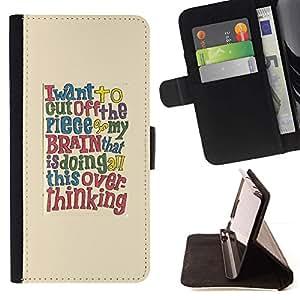 For Sony Xperia Style T3 Case , Cita cerebro texto inteligente- la tarjeta de Crédito Slots PU Funda de cuero Monedero caso cubierta de piel