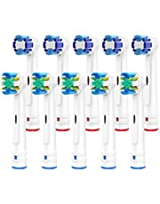 Brightdeal Zapasowe głowice do szczoteczek do zębów Braun Orral B - kompatybilne z Oral B Elektryczna szczoteczka do zębów zawiera 5 nitek do czyszczenia 5 precyzyjne czyszczenie - 10 sztuk biały