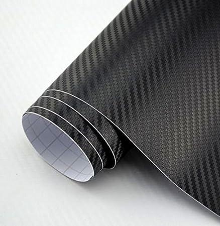 DIYAH 3D Black Carbon Fiber Film Twill Weave Vinyl Sheet Roll Wrap DIY Decals 84 X 60 // 7FT X 5FT