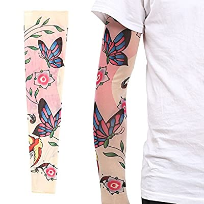 ZQXPP Z158 Tattoo Sport Arm Sleeve Cycling Sun Protective Uv Cover Arm Sleeves-1 Pair
