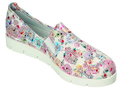 Miccos Pour Femme À multicolore Ville Lacets Blanc Chaussures De rgwqarZ