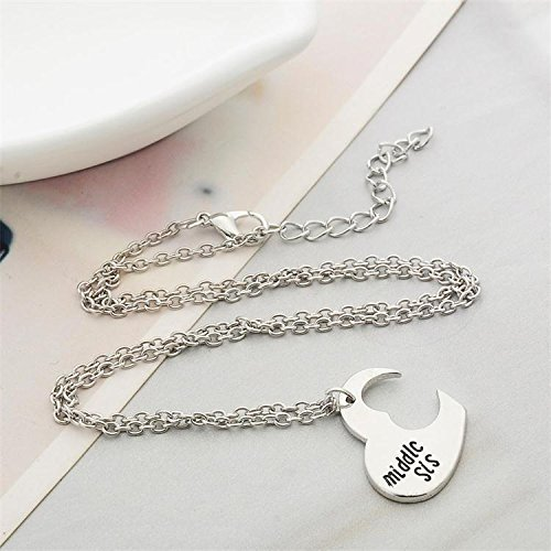 Iprome Custom Name Necklace Personalized 3 Heart Shaped Puzzles Birthstone 925 Sterling Silver Pendant Jewelry Gift for Family