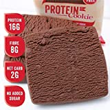 Justine's Chocolate Fudge Cookies, Soft Baked High Protein Healthy Snack, Ultra Low Carb, No Added Sugar, Gluten Free, Wheat Free, Made in New Zealand (2.25 oz, 12 Pack)