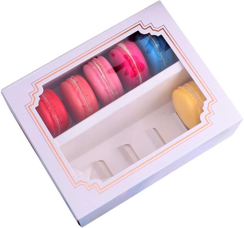 Caja de 10 piezas para macarrones de chocolate, pastelería, galletas, casas de galletas y accesorios para hornear con ventana, No nulo, como se muestra en la imagen, large: Amazon.es: Hogar