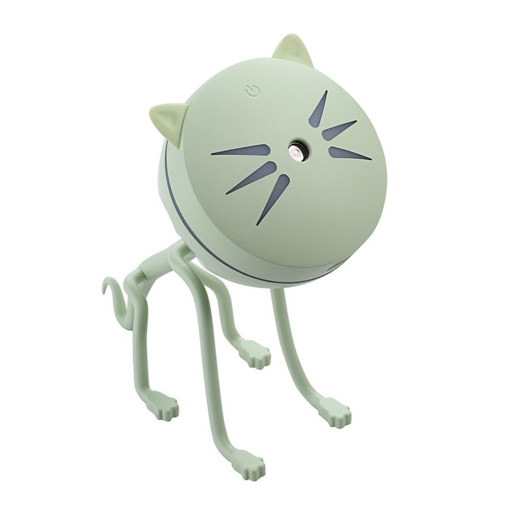 BESSKY 150ML ABS Cute Cat LED Lamp Small USB Humidifier Air Diffuser Purifier Atomizer for Office Home Bedroom Living Room Study Yoga Spa
