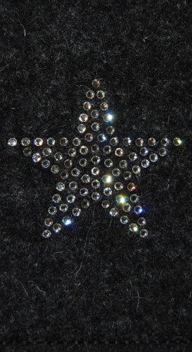 Krings fashion® Filztasche für Samsung Galaxy S4 Mini und iPhone 5C, Filzfarbe anthrazit, mit Stern aus Swarovski® Kristalle; Qualität aus Deutschland