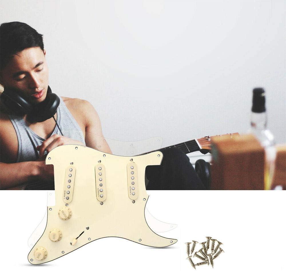 beartybohochic/® Micros Pickguard Alnico V Classiques pr/é-c/âbl/és pour Guitare Fender Strat