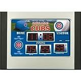 Team Sports America MLB Chicago Cubs Scoreboard Desk Clock