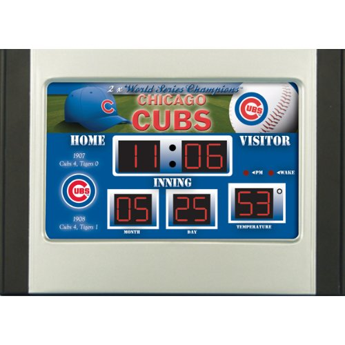 MLB Chicago Cubs Scoreboard Desk Clock Chicago Cubs Alarm Clock