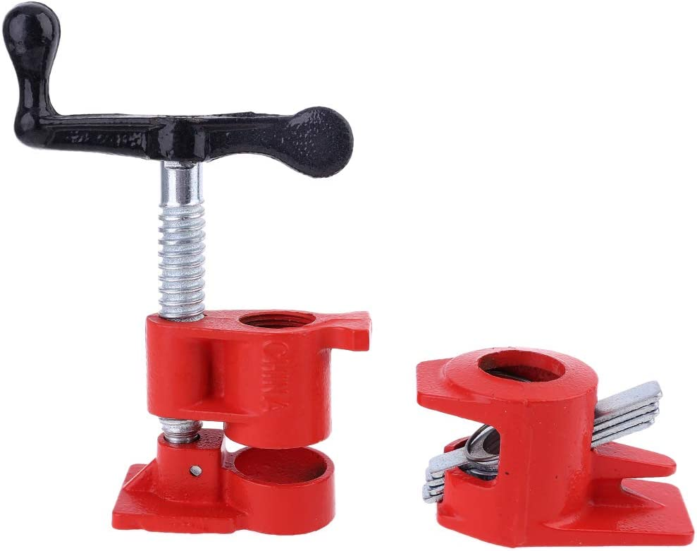3//4 Ince Wood Pipe Clamp Professional Woodworking Tool for Woodworkers 3//4 Heavy Duty Wood Gluing Pipe Clamp Set