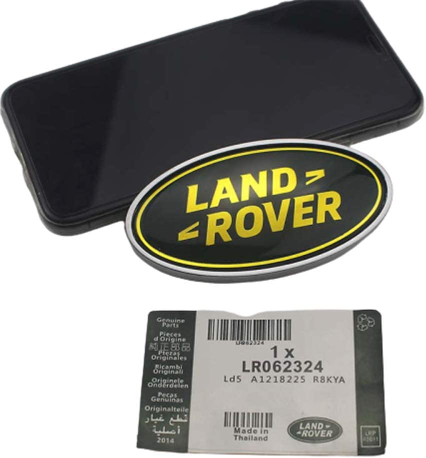 XCBW Distintivo dellemblema dellautomobile del Metallo 1pcs 3D per Adesivo Ovale Baule Posteriore Auto per Land Rover Discovery 4 Freelander 2,doro