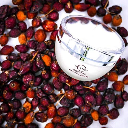 514zfbIWi8L - O Naturals Organic Advanced-Repair Hydrating Rosehip Oil Night Face & Neck Cream. Face Moisturizer. Anti-Aging Moisturizes Dry Skin Anti-Wrinkles Reduce Scars Boost Collagen Vitamin E Non Greasy 1.7oz