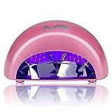 Opi Gel Nail Polish MelodySusie 12W LED Nail Dryer - Nail Lamp Curing LED Gel Nail Polish, Professional for Nail Art at Home and Salon - Pink