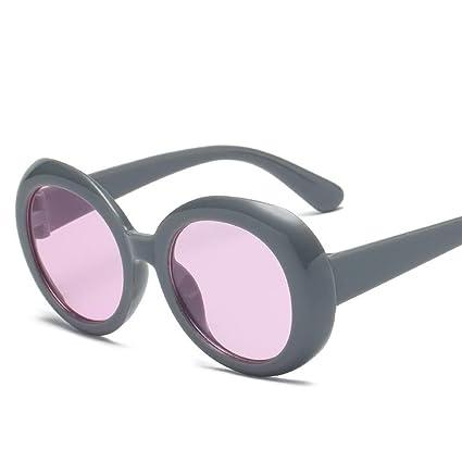 BiuTeFang Gafas de Sol Mujer Hombre Polarizadas Elíptica Marco Gafas de Sol Transparente Océano Película Gafas