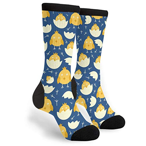 (Easter Chicks Eggs Novelty Men Women Cool Crazy Funny Sport Colorful Fancy Graphic Crew Tube Casual Socks)