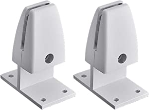 2 pcs Desk Screen Baffle Fixed Clamp, Desktop Screen Partition Clip, Office Desk Divider Clamp Desk Partition Support Holder, Table Separator Board Clamp for Home Office