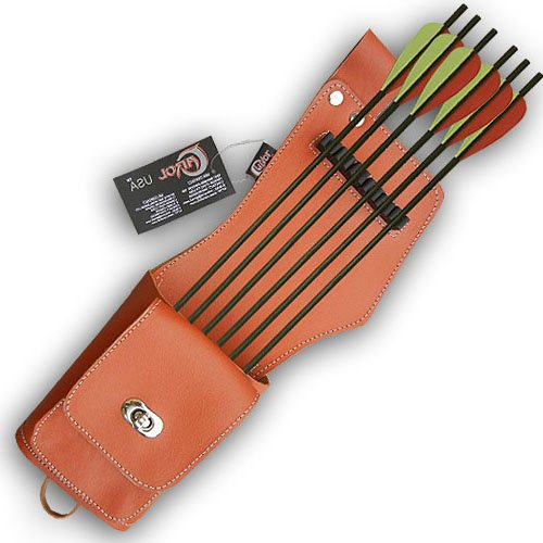 CHERY SIDE/HIP/BELT LEATHER ARROW QUIVER AQ142A TAN (L/H) ()