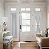 """Nicetown Room Darkening French Door Thermal Curtain Panel 25 Width x 72"""" Length - Platinum 