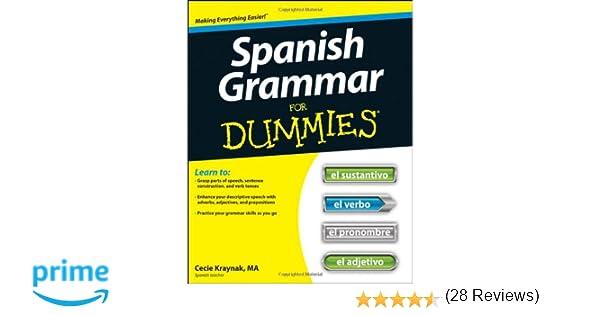 Amazon.com: Spanish Grammar For Dummies (9781118023808): Cecie ...