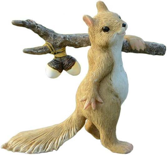 donau Cute Squirrel Garden Decor Animal Statue Yark Animal Sculpture Indoor Outdoor Art Décor, 3.5 Inch, Resin