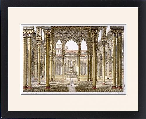 Framed Print Of Alhambra/spain/lions Crt by Prints Prints Prints