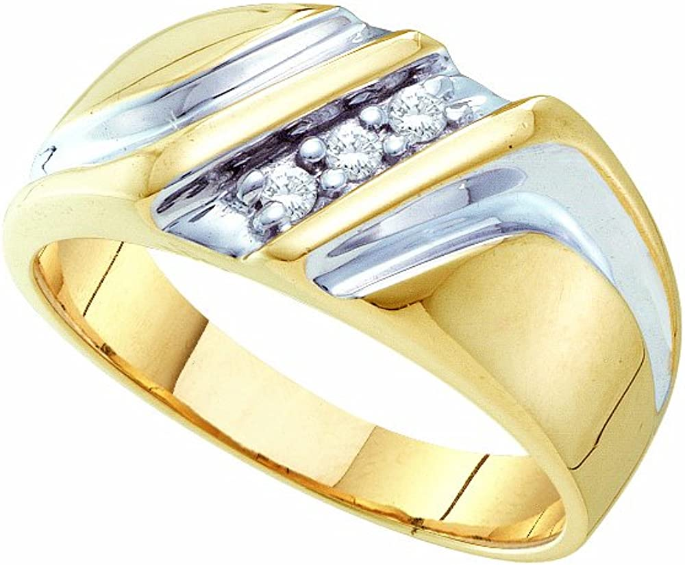 0.10CTW DIAMOND MENS BAND Available Sizes 5 to 11