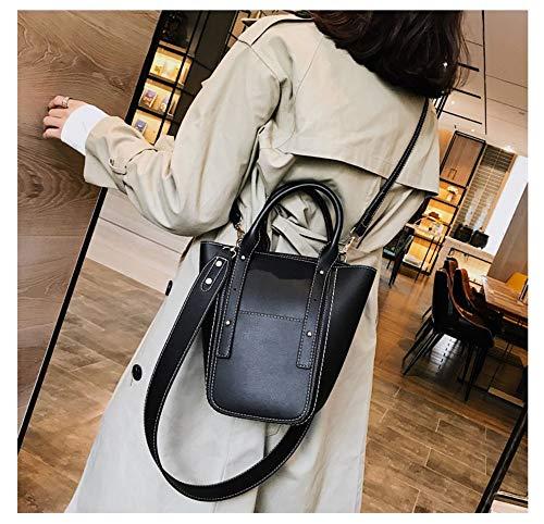 les femme Sacs femmes noir bandoulière cuir Femme à pour rivets pour Sacs bandoulière Petit Tuladuo en sac pour Pochette OqaSUyT