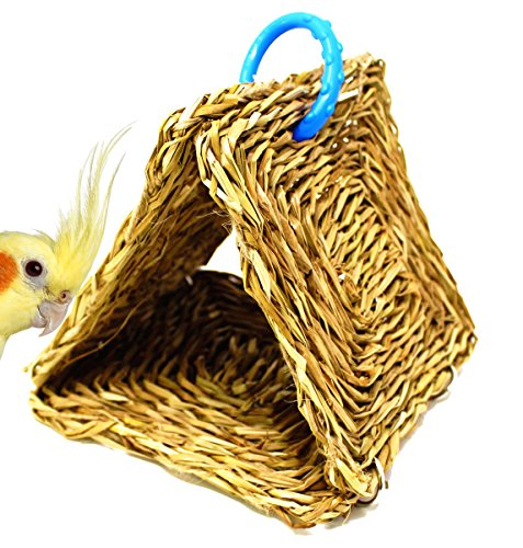 1465 Seagrass Tent hut Bird Toy parrot cage toys african grey amazon conure by Bonka Bird Toys