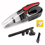Cordless Vacuum, LAEKER 120W Handheld Vacuum Cleaner Powerful Rechargeable Pet Hair Vacuum Dust Busters for Home and Car Cleaning (Black)