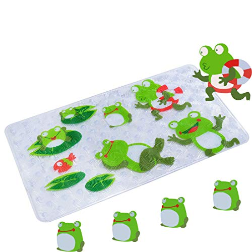 WARRAH Kids Bath Mats,Non Slip Bathtub Mats for Babies,Children,Toddlers,Square Size 27.5