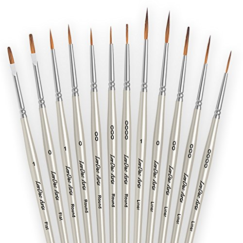 00 fine detail paint brushes - 4