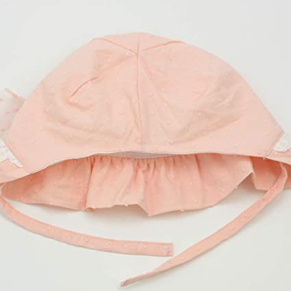 Newborn Baby Girls Princess Beige Lace Bonnet Beanie Summer Sun Hat Beret Cap FM