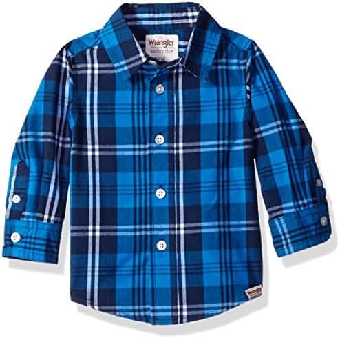 Wrangler Authentics Baby Boys' Long Sleeve Woven Shirt