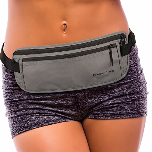 (Premium Travel Money Belt - $500 Theft Protection, RFID Blocking, and 2x Credit Card Sleeves)