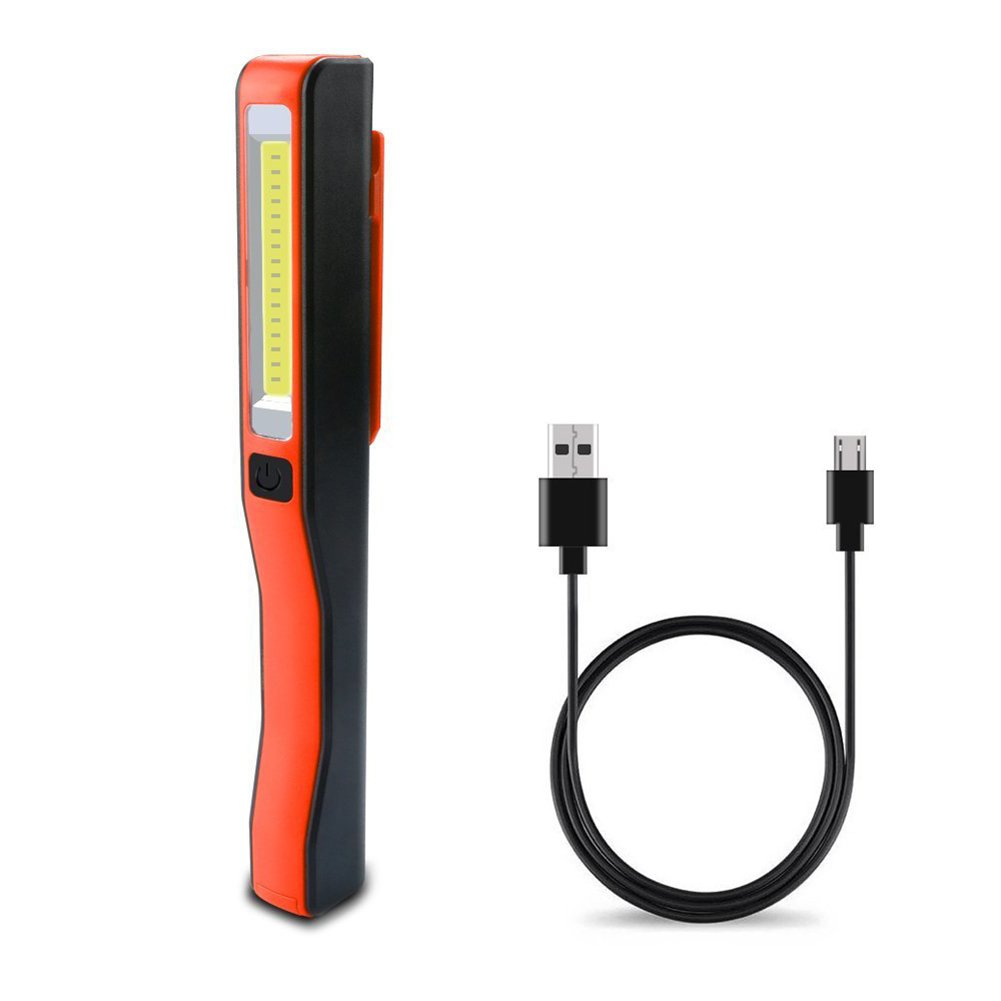 crewell Portá til LED COB luz de Trabajo Lá mpara de Bolsillo Recargable USB Lá mpara de Bolsillo de Inspecció n con Clip magné tico para Taller Bricolaje 1vm2mm5xs0xd0ls2D03